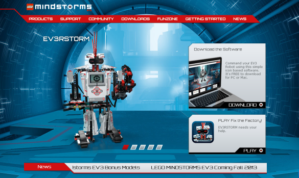 Mindstorms EV3 Website