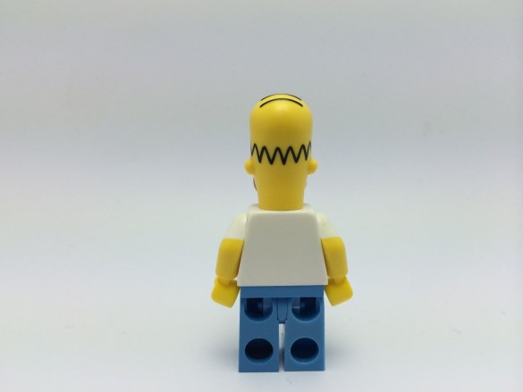 Homer Simpson Lego Minifig back