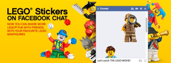 Lego Minifigures Facebook Stickers