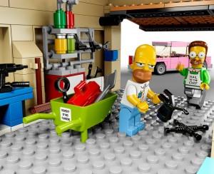 Lego Simpsons set 7106 Homer et Flanders