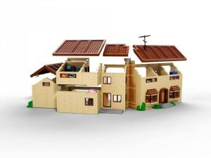 Lego Simpsons set 71006 maison ouverte